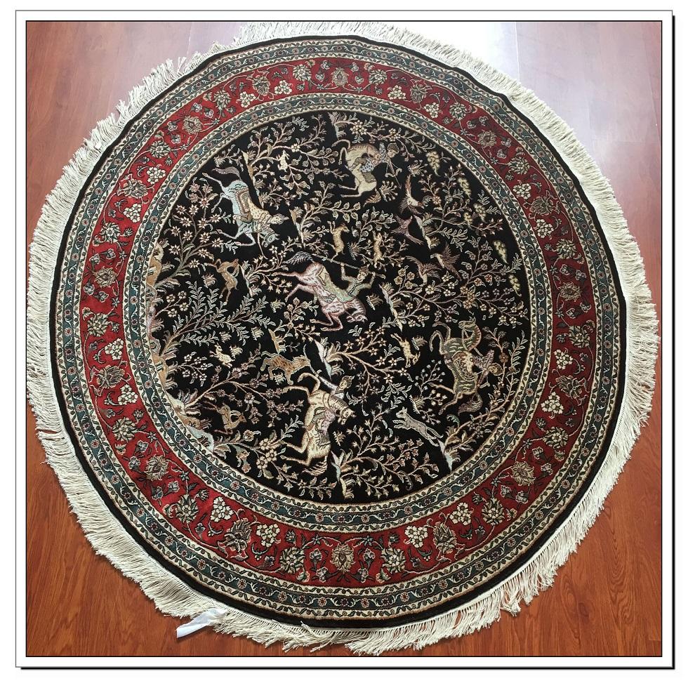 真丝圆毯300道x30013