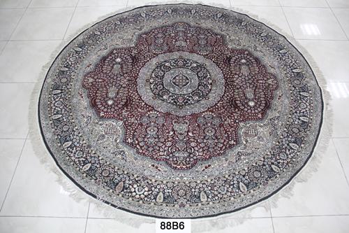 真丝圆毯300道x30015