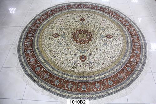 真丝圆毯300道x30016