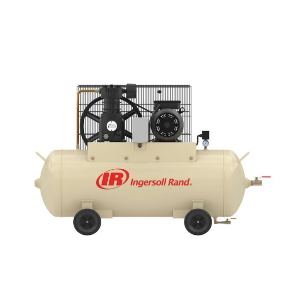 0.75-7.5kW单级压缩7和8barg卧式储气罐空气压缩机