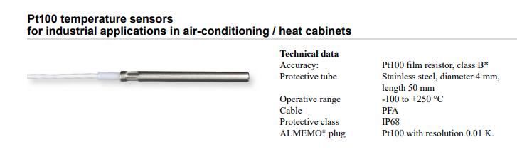 Ahlborn 温度传感器 FPA40ST0050S01KL0050 希而科代理