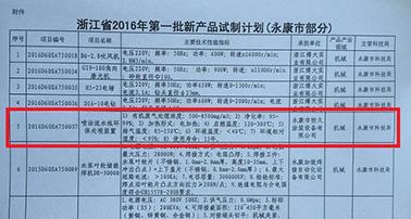 恒久喷涂流水线环保处理设备项目被列入浙江省2016年第yi批新产品试制计划