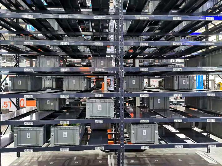 塑料物流分格箱在自動立體庫中的應用