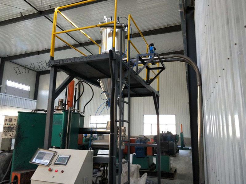 密炼机上辅机的生产过程