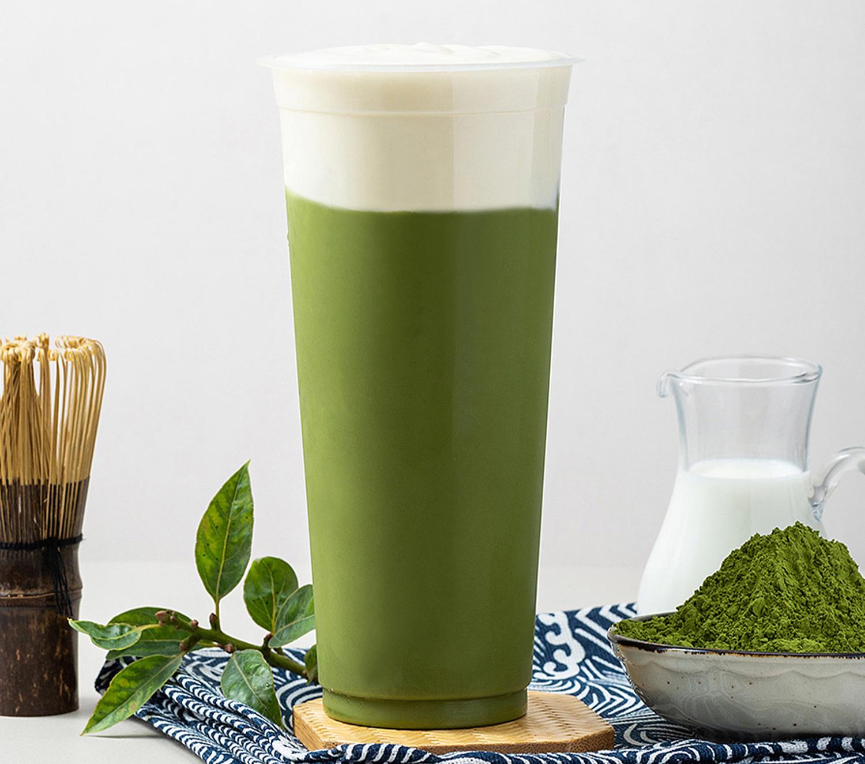 崔佳玲烧仙草—芝士奶盖高级抹茶