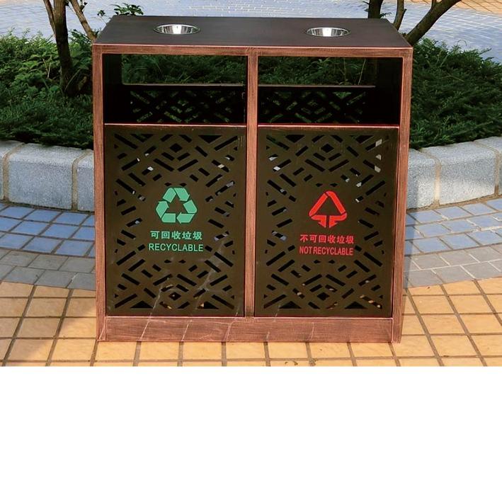 不锈钢垃圾箱CQU-BX-S065