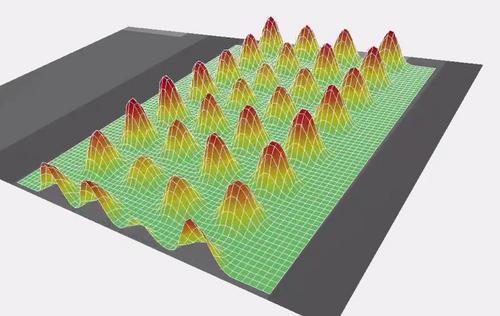 cMUT換能器陣列的偏轉形狀.jpeg