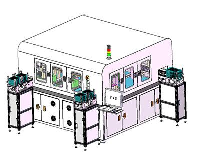 光通讯模块自动组装激光焊锡设备