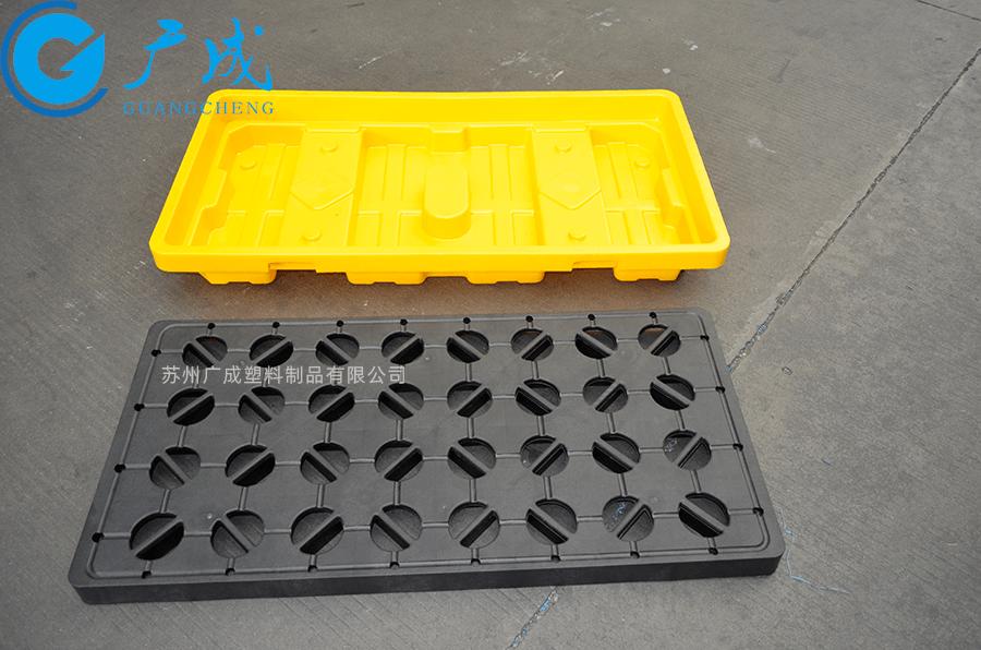 两桶装防泄漏塑料托盘隔板