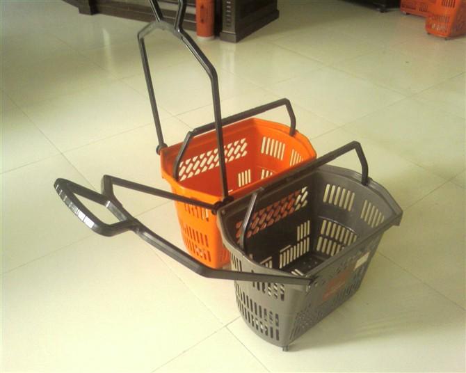 拉杆式超市购物篮