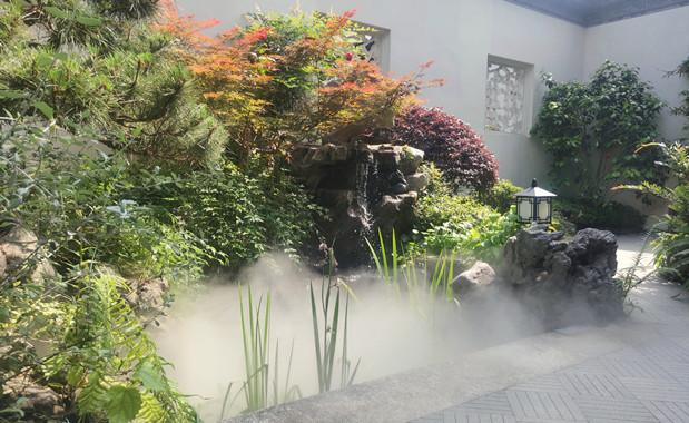浙江园林景观绿化人工造雾案例