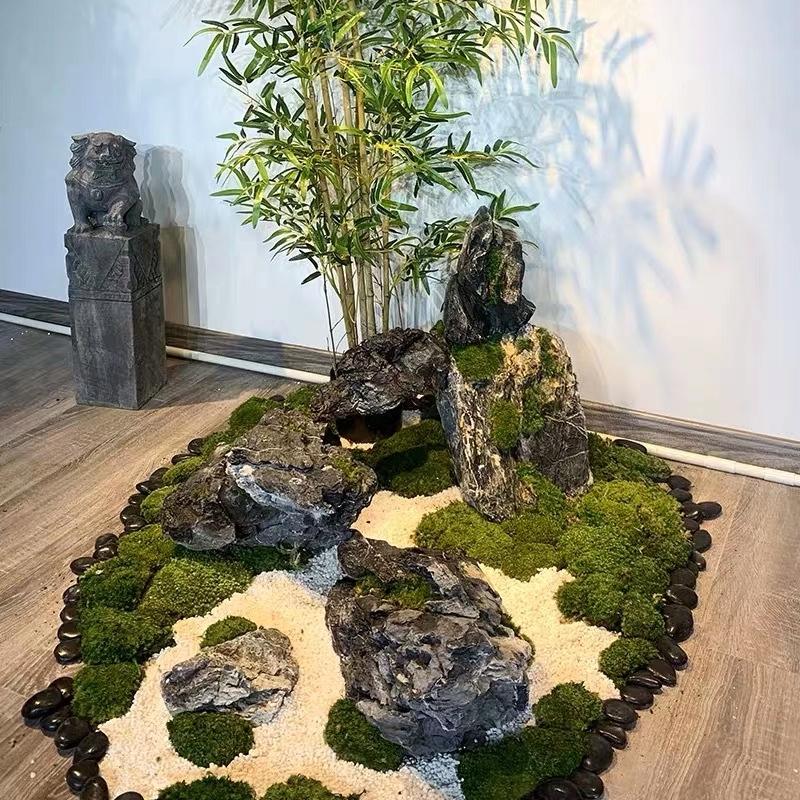 竹子假山景观