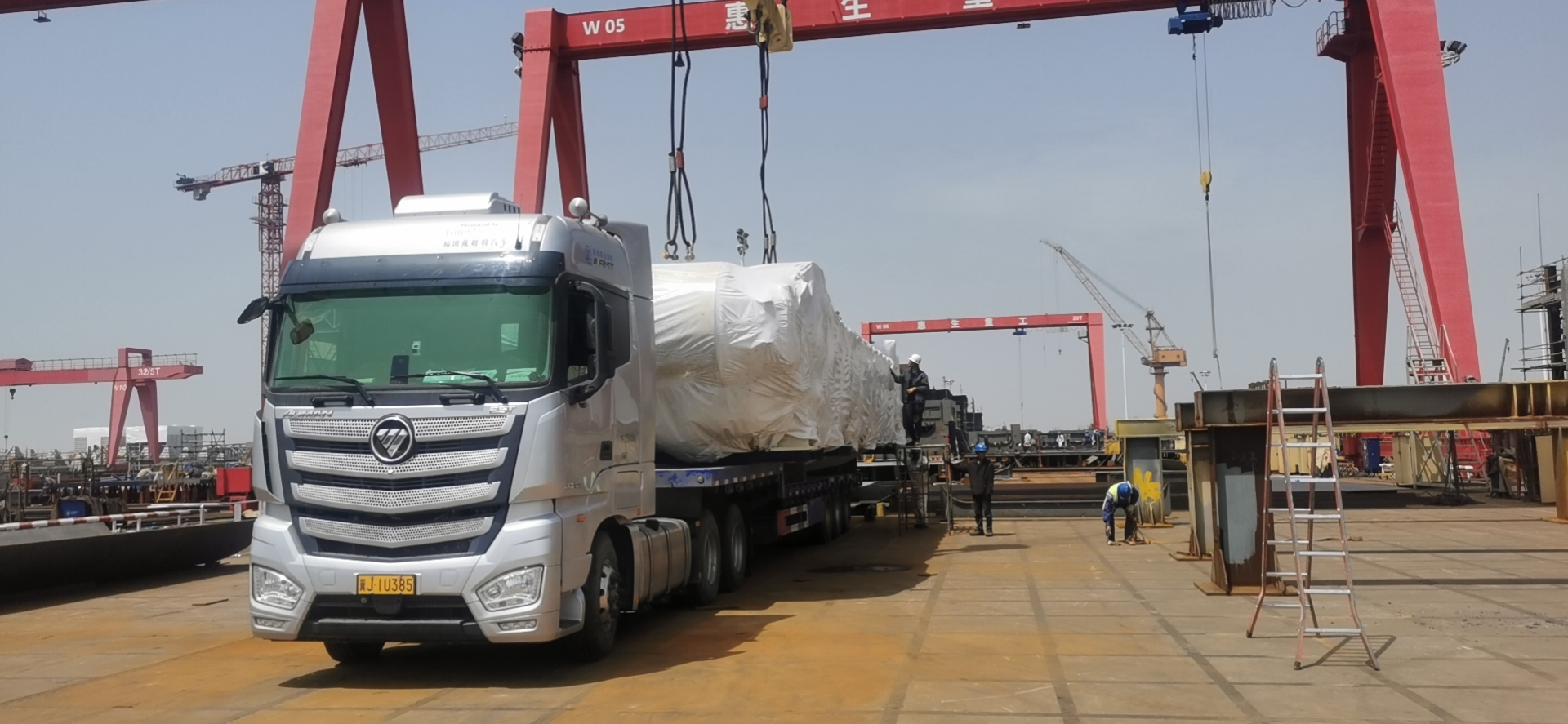 楚基物流 机械设备安全到达并顺利卸货