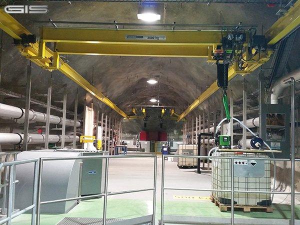 GIS工业隧道电动葫芦