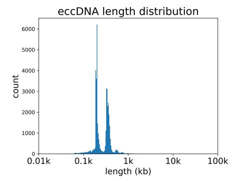3. eccDNA长度分布图