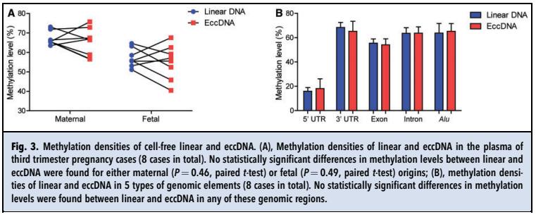 2. eccDNA和甲基化位点的分布