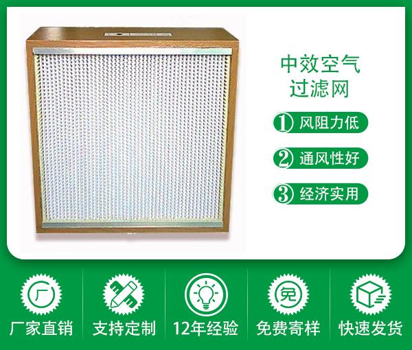 木框 有隔板空氣過濾器