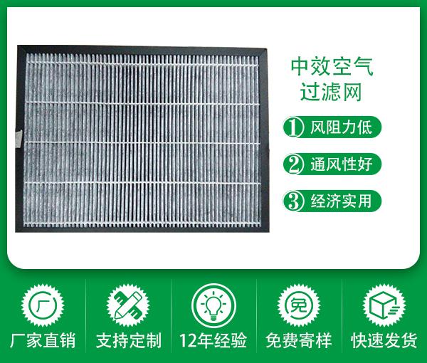源頭廠家供應空氣凈化FS隔板式中效過濾器鍍鋅框空調通風系統中級過濾器