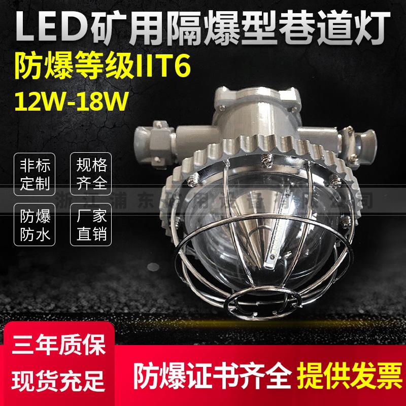 LED矿用隔爆型巷道灯-防爆等级IIT6-12W-18W