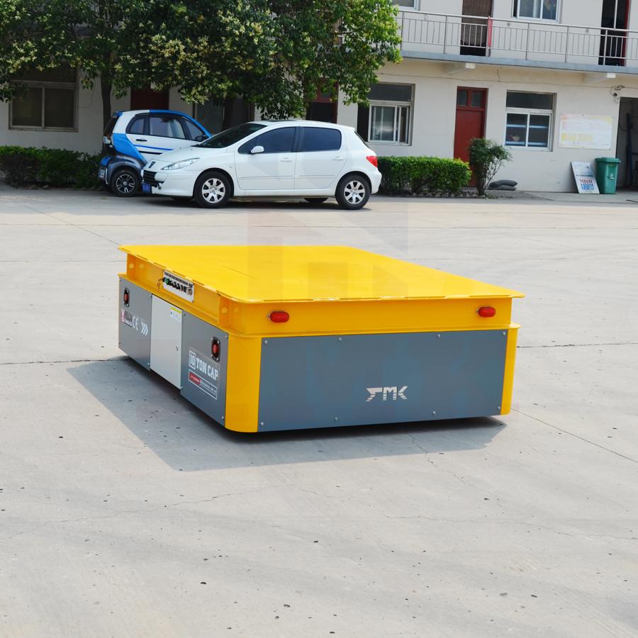 工业生产材料运送设备无轨搬运车(出口意大利10吨蓄电池无轨转运车)