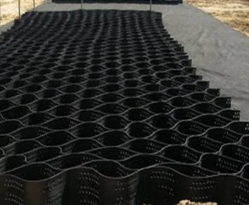 公路铁路坡面种植绿化蜂巢土工格室路基挡土墙加固带孔立体格栅网原来这么好用