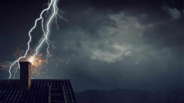 natural lightning damage