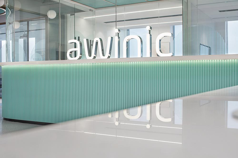 蓝色芯球 科技公司awinic上海西子国际12楼办公设计欣赏