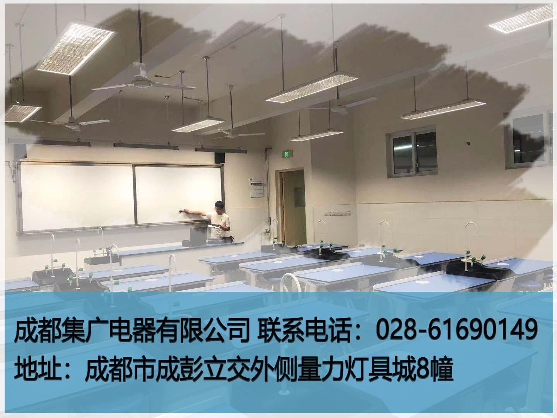 成都集廣新完成項目-華新七中LED黑板燈/LED教室燈