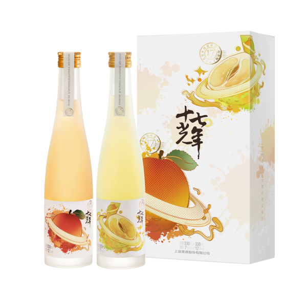 十七光年双支礼盒(清型米酒柚子味+青熟梅酒)