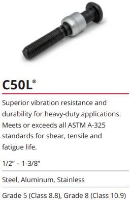 C50L系列环槽铆钉-虎克螺栓