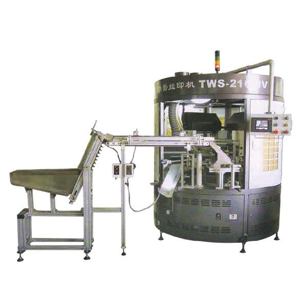 TWS-216转盘式双色丝网印刷机