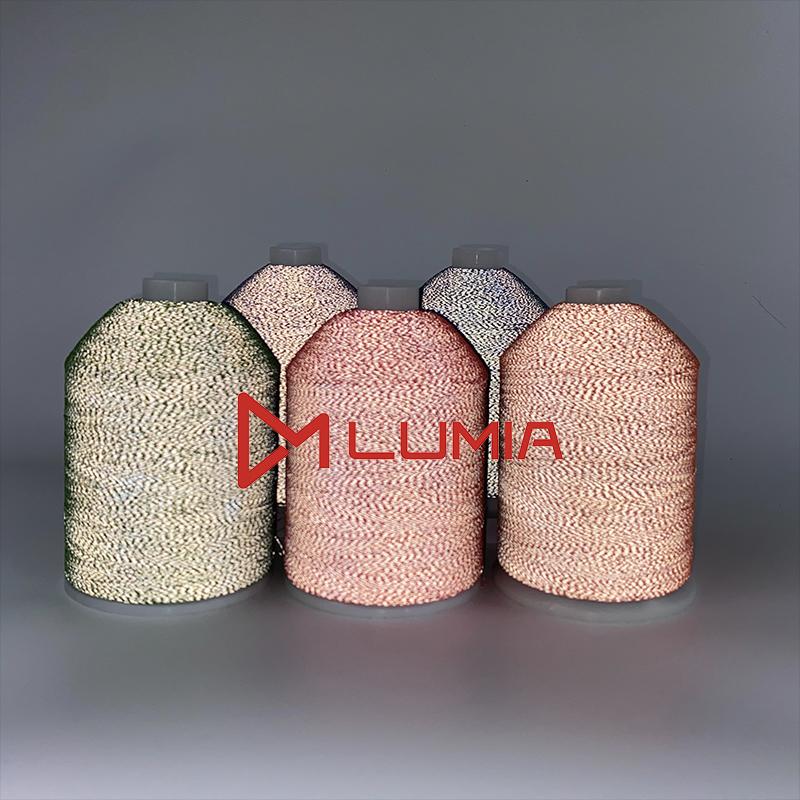 RS7525彩色反光线/高亮双面反光针织线/袜子用反光针织线