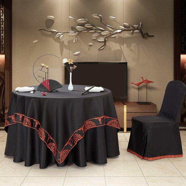 双面缎桌布(黑色海报款)