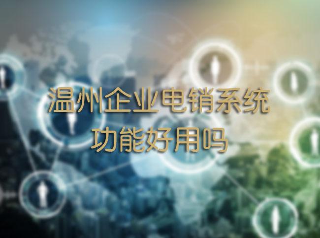 温州企业电销系统功能好用吗