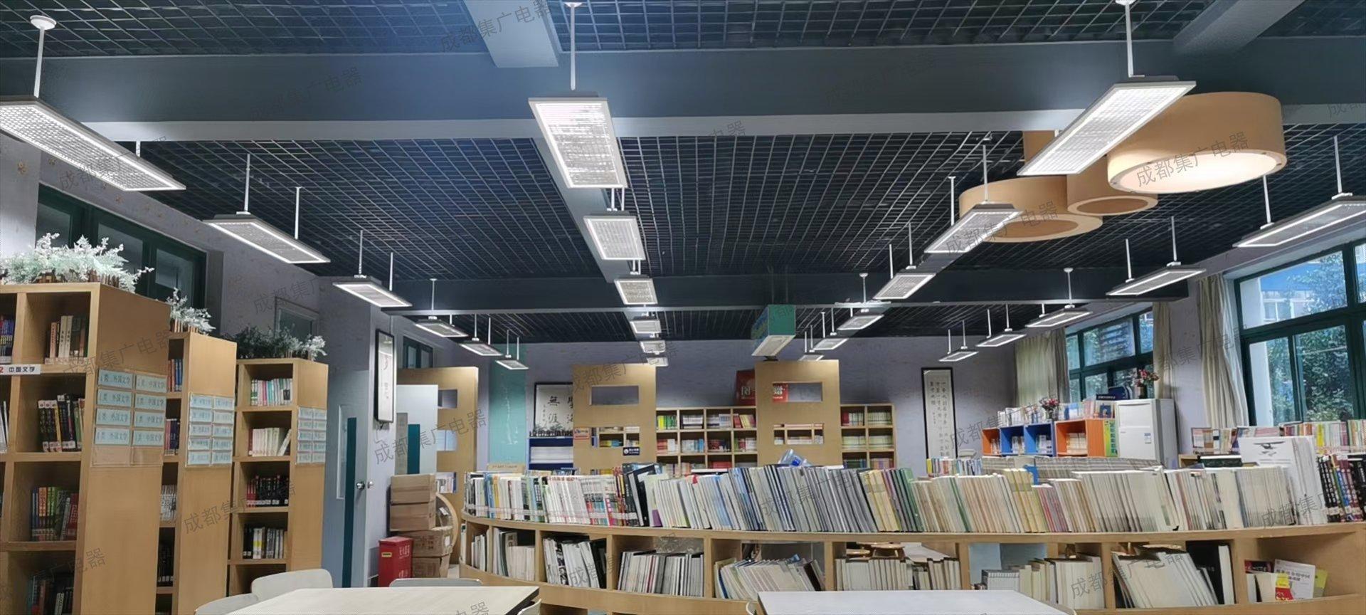 成都集广LED教室灯更换后