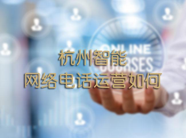 杭州智能网络电话运营如何?