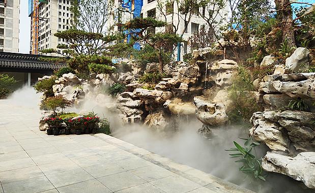 山东售楼处园林景观贝斯特全球最奢华网页雾案例